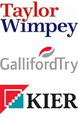 Taylor Wimpey, Galliford Try, Kier Logos
